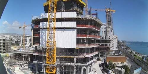 live webcam Bau eines Komplexes an der Küste der Akrotiri